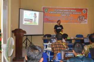 pemerintah desa sekodi taja pelatihan jurnalis warga